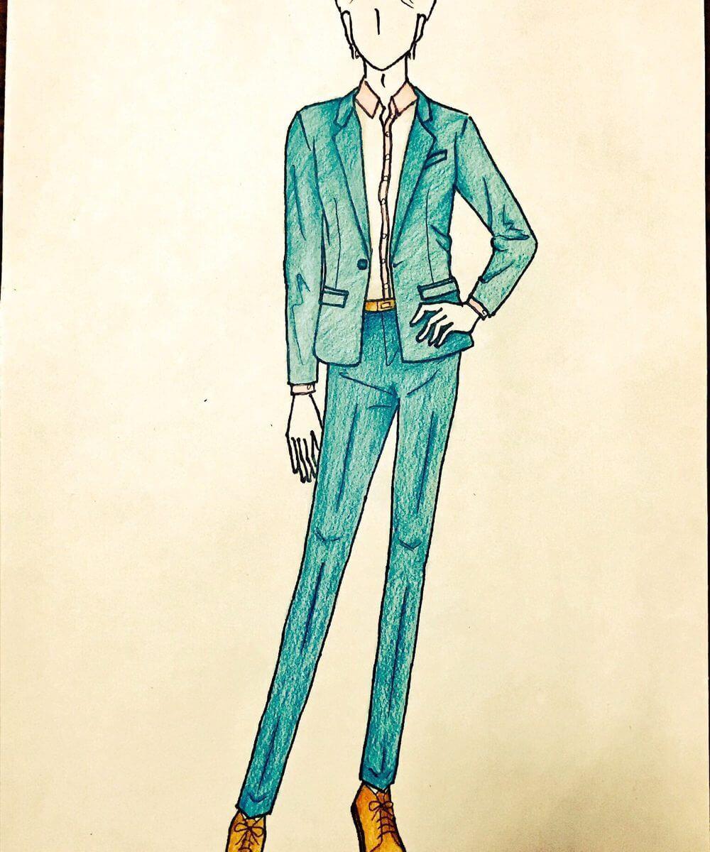 色付けしたファッション用イラスト