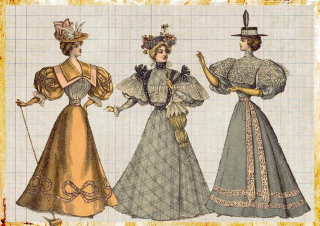 レトロテイストのファッション